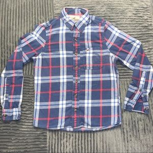 Red white and blue Hollister flannel